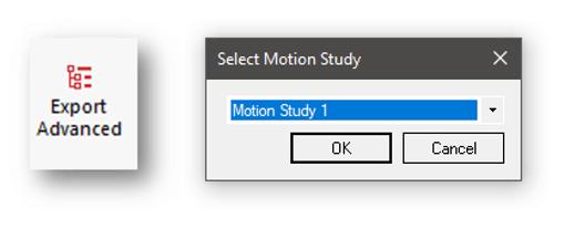 Izvoz študij gibanja v SOLIDWORKS Visualize Professional