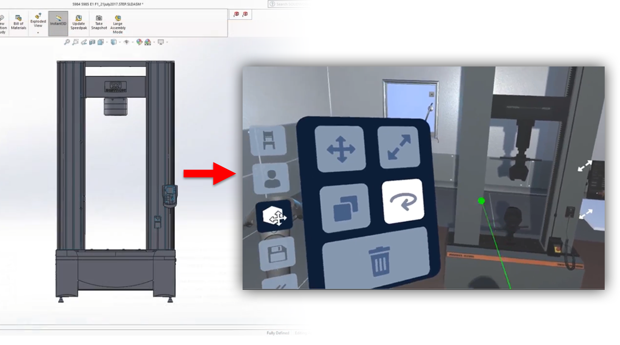 Novo: SOLIDWORKS XR (Extended Reality)